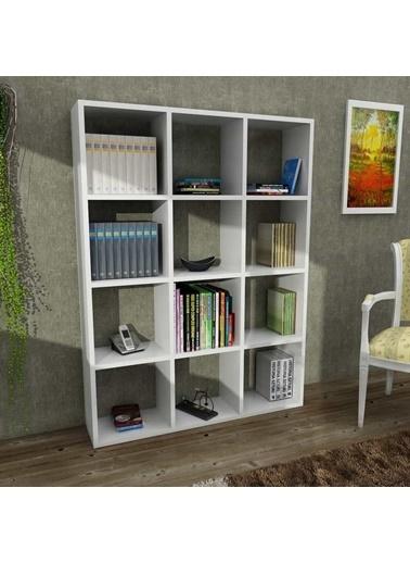 Dekorister Ultimate Kitaplık Beyaz Renkli